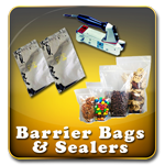 Moisture Barrier Bags & Heat Sealers - Includes Clear Stand-up bags and Aluminized Bags.