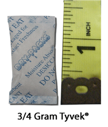 3/4 Gram Silica Gel Packet - Tyvek