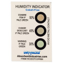 Cobalt Free Humidity Indicator Card - 3 Dot 30%/40%/50%