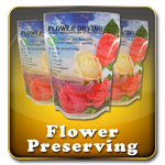 Flower Drying Crystals - Preserve 100's of flowers with our Silica Gel based drying agent. Flowers, Herbs, Bouquets, Corsages, Boutonnieres, Wreaths, Seeds, and much more