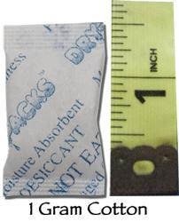 1 Gram Silica Gel Packet - Cotton
