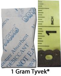 1 Gram Silica Gel Packet - Tyvek