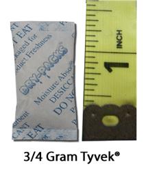 3/4 Gram Silica Gel Packet - Tyvek
