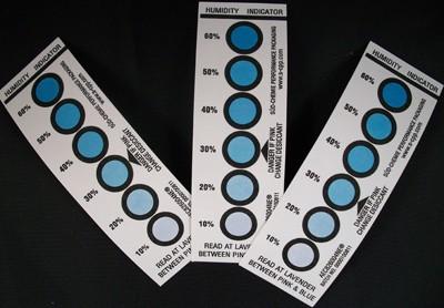 6 Dot 10% - 60% Humidity Indicator Card