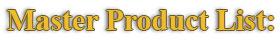 Master Product List: